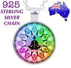 Chakra Healing Buddha Yoga Meditation Mandala Glass Cabochon Pendant Necklace