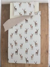 Single Duvet  Quilt Cover Bed Set Brushed Cotton Warm Winter Cosy Stag Pattern