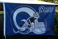 Los Angeles Rams flag Helmet 3ft x 5ft LA Rams flag banner, Navy Blue white