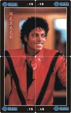 Michael Jackson 4 telefoonkaarten/télécartes  (MJ62-77 4p)
