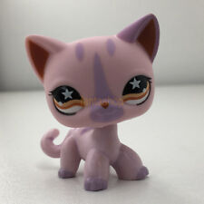 LPS#933 Star Eyes Cat Littlest Pet Shop Pink Siamese Short Hair Kitty Tabby Tail