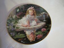 1991 The Danbury Mint Porcelain Plate-Monday'S Child By Elaine Gignilliat