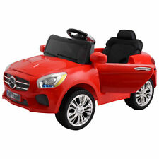 Kids Ride On Car 6V RC Remote Control Battery Powered w/ LED Lights MP3 Red New