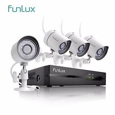 Funlux 1080P 4Ch NVR 4 1.0MP IP Network PoE Video Home Security  Camera System