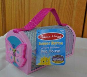 Melissa & Doug Sunny Patch Cutie Pie Butterfly BUG HOUSE- NEW spring ladybug