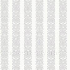 CASA delle Bambole Blu su Bianco Windsor a righe Carta Da Parati Stampa in miniatura Set di 3