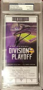 "Stefon Diggs Signed ""Minnesota Miracle"" Replica Game Ticket (PSA Encapsulated)"