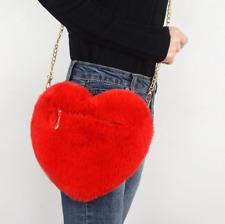 Sac à main original peluche coeur rouge fausse fourrure toute douce girly love