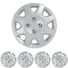 """14"""" Set of 4 Hubcaps OEM Replica Wheel Covers Replacement Silver Skin NEW"""