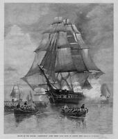 ESCAPE OF FRIGATE CONSTITUTION OLD IRONSIDE THREE DAYS CHASE BY BRITISH SHIPS