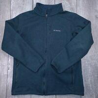 Columbia Omni-Wick Full Zip Heavy Fleece Jacket Mens XL Blue Pockects SW220