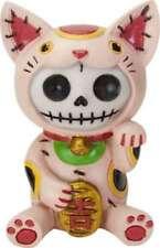 Furry Bones MANEKI NEKO the Good Luck Kitten Figurine, Skeleton in Costume, NIB