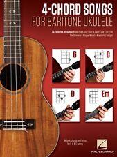 4-Chord Songs for Baritone Ukulele G-C-D-Em Sheet Music Melody Chords  000156009