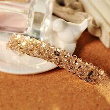 1pc Champagne Crystal Rhinestone Clip Hair Clip Womens Sweet Hair pin Barrette