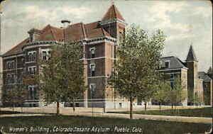 Pueblo CO State Insane Asylum Hospital Women's Bldg 1909 Used Postcard
