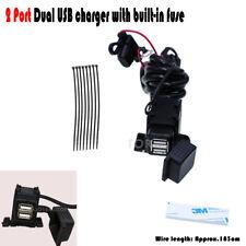2 Port Dual USB Charger Power Socket Fit Honda VTX 1300 C R S RETRO VT1300