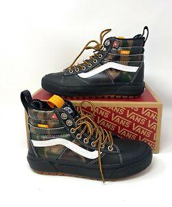 VANS Sk8-Hi Mte 2.0 Dx Black Camo Khaki Green Women's Sneakers Boots VN0A4P3I2TI