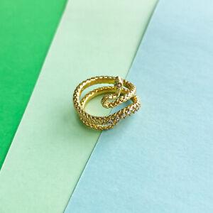 Phoenix Kendra Scott Vintage Gold Wrap Ring Size 7