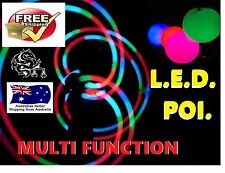 3 pairs LED Glow POI multifunction, soft ball, bright full colour  strobe fire