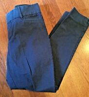 Banana Republic Women's Size 4 Blue Checked Jackon Fit Slit Ankle Pants