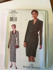 Vogue  Sewing Pattern 7476 size 12 14 16 Wrap Dress
