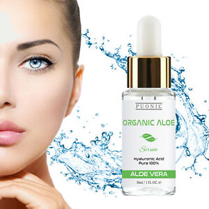Organic 97% Pure 100% Hyaluronic Acid Face Serum HA Anti Aging Collagen Booster