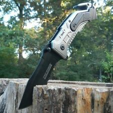 TAC-FORCE Assisted Opening AIR FORCE OPS Grey Belt Cutter Glass Breaker Knife