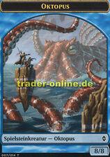 2x Spielstein - Oktopus (Token - Octopus) Battle for Zendikar Magic