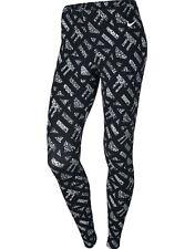 BNWT Nike Women's Club all over Print Leggings Black Sz XL 678974 100