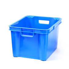 Medium Plastic Storage Box, Stackable, Tub, Crate, Container, Clear, Transparent