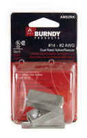 Burndy  Cable Splicer/Reducer  Silver  3 pk