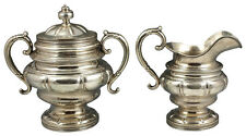 William Gale Sr.Heavy Casted American Coin Silver Sugar & Creamer 42 Troy Ounce
