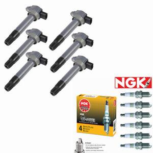UF643 Ignition Coils + NGK Spark Plugs for 09-11 Mitsubishi Galant Endeavor