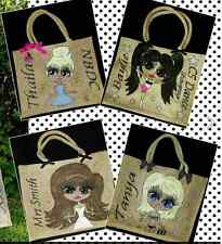 PERSONALISED LARGE HAND PAINTED JUTE BAGS ANY NAME OR DESIGN WE CREATE FOR YOU