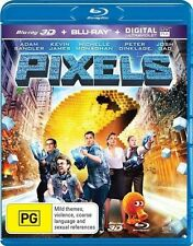Pixels  (3D Blu-ray ONLY NO 2D, 2015) BRAND NEW NOT SHRINKED WRAPPED