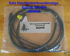 Set MANUBRIO ALTO bowdenzüge SUZUKI GS 400, gs400, 060058, Long bowden cables, NEW