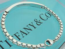 """Tiffany & Co. Sterling Silver 7 3/4"""" Venetian Link ID Bracelet"""