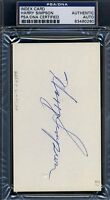 Harry Simpson Psa/dna Certed Signed 3x5 Index Card Autograph Authentic