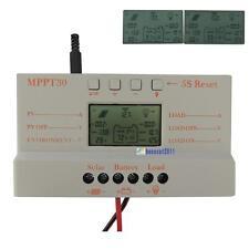 30A MPPT Solar Panel Regulator Battery Charger Controller 12V/24V With LCD USBPQ