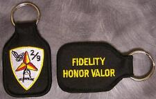 Embroidered Cloth Military Key Ring 2nd Battalion 9th Marine Regiment USMC NEW