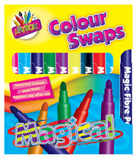 MAGIC COLOUR swap fibra penne marcatore non tossici COLORI ASSORTITI Kids craft-1118