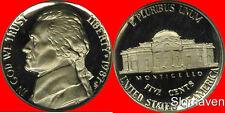 1987 S Jefferson Nickel Deep Cameo Gem Proof No Reserve