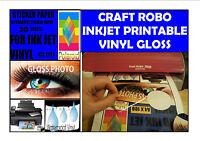 CRAFT ROBO VINYL COATED INKJET PRINTABLE GLOSS PHOTO SELF ADHESIVE  A4 20 SHEETS