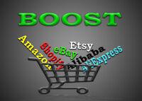 promote any Amazon, Etsy, Alibaba, AliExpress,Shopify or Any Online store