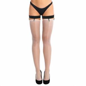 Women's Non-slip Elastic Thigh High Garter Belts Stockings Holder Fastener Clips
