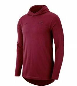 Nike Cleveland Cavaliers Cavs Long Sleeve Hoodie T-shirt Wine Mens SZ  XL 939147