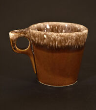 Mid Century Hull Oven Proof USA Brown Drip Coffee Mug