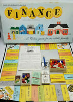 Vintage Finance Board Game No 100 1962 Parker Brothers Business 100% Complete