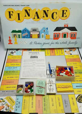 Vintage Finance Board Game No 100 1962 Parker Brothers Business 100% Complete