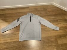 Adidas Golf ClimaLite 3 Stripe 1/4 Zipper Long Sleeve Jumper